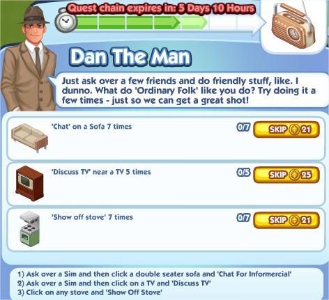 The Sims Social, Dan The Man 5