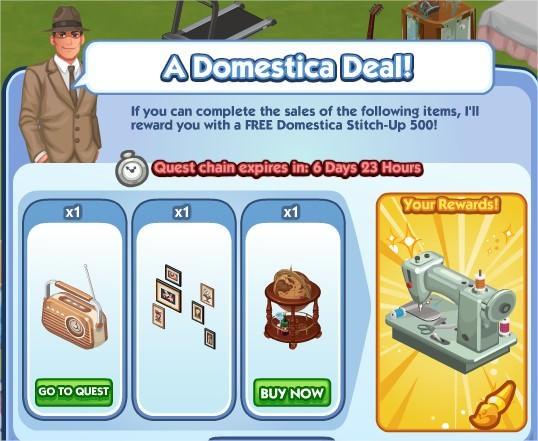 The Sims Social, A Domestica Deal!