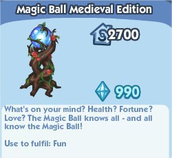 The Sims Social, Magic Ball Medieval Edition