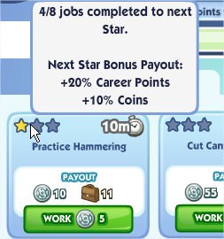 The Sims Social, Career
