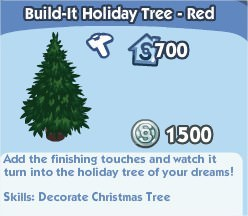 Build-It Holiday Tree - Red