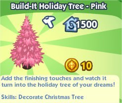 The Sims Social, Build-It Holiday Tree - Pink