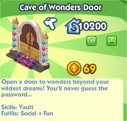 The Sims Social, Cave of Wonders Door