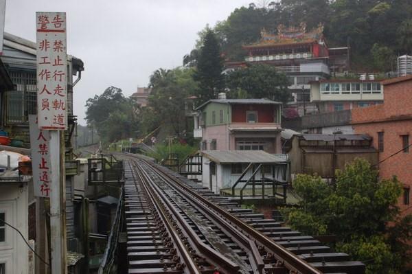 三坑鐵橋, 平溪小鎮
