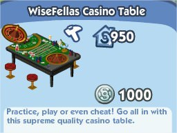 The Sims Social, WiseFellas Casino Table