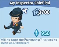 The Sims Social, My Inspector Chief Pal