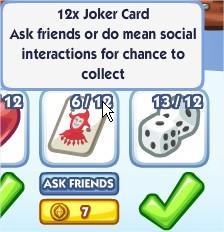 The Sims Social, Joker Card