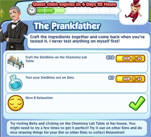 The Sims Social, The Prankfather 3