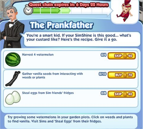 The Sims Social, The Prankfather 4