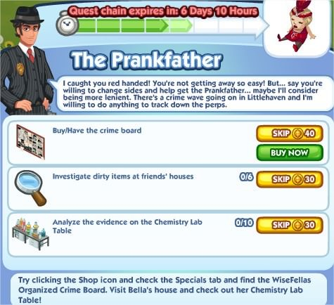 The Sims Social, The Prankfather 5