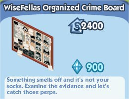 The Sims Social, WiseWellas Organized Crime Board