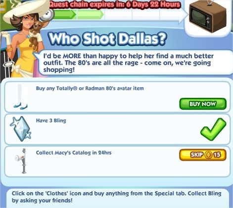 The Sims Social, Who Shot Dallas 2