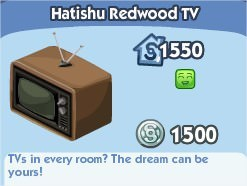 The Sims Social, Hatishu Redwood TV