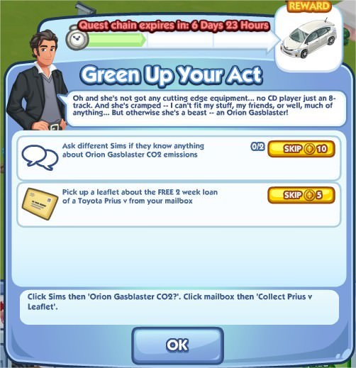 The Sims Social, Green Up Your Art 1