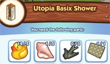 The Sims Social, Utopia Basix Shower