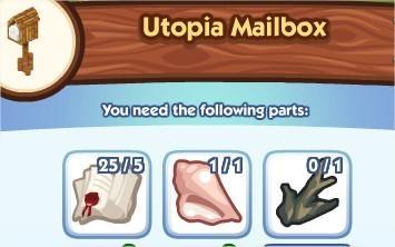 The Sims Social, Utopia Mailbox