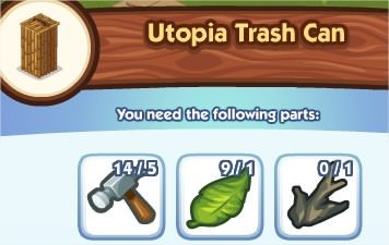 The Sims Social, Utopia Trash Can