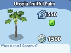 The Sims Social, Utopia Fruitful Palm