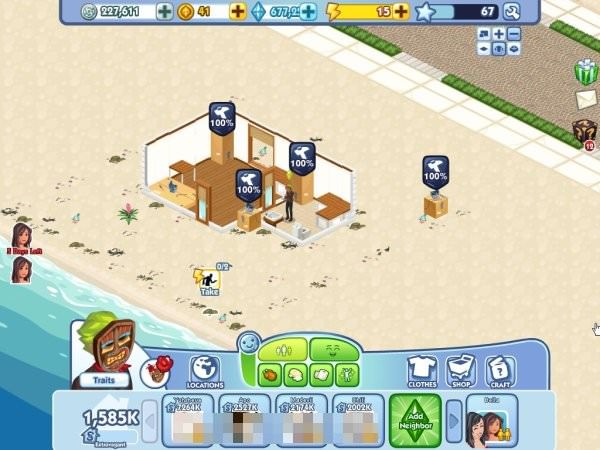The Sims Social, Beach House