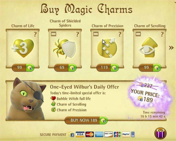 Facebook, Bubble Witch Saga, Shop