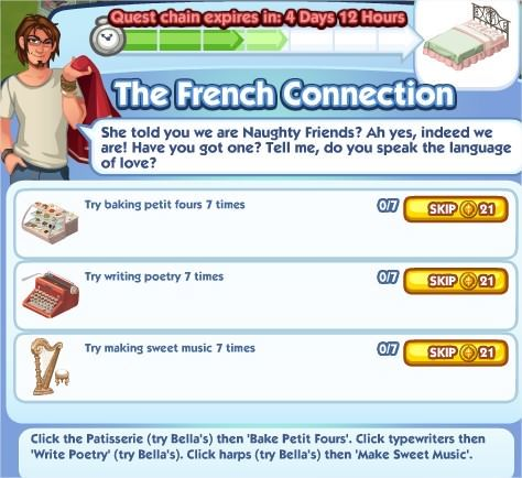 The Sims Social, The French Connection 4