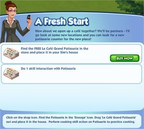 The Sims Social, A Fresh Start