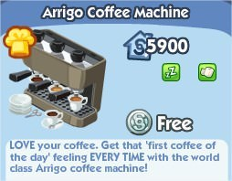 The Sims Social, Arrigo Coffee Machine