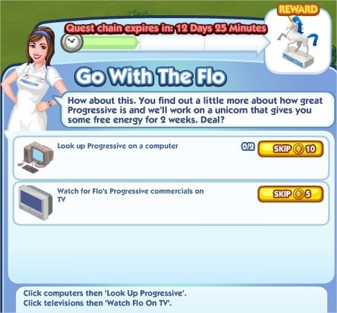 The Sims Social, Go With The Flo 1