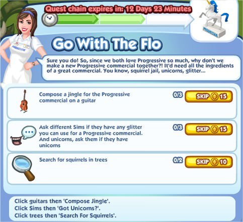 The Sims Social, Go With The Flo 2