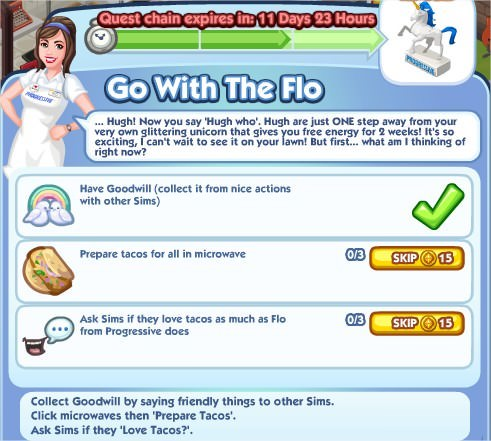 The Sims Social, Go With The Flo 3