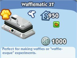 The Sims Social, Wafflematic 3T