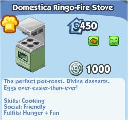 The Sims Social, Domestica Ringo-Fire Stove