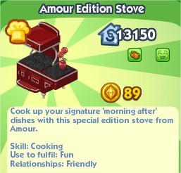 The Sims Social, Amour Edition Stove
