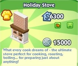 The Sims Social, Holiday Stove
