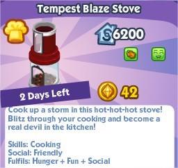 The Sims Social, Tempest Blaze Stove