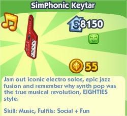 The Sims Social, SimPhonic Keytar