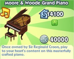 The Sims Social, Moore & Woode Grand Piano