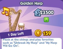The Sims Social, Golden Harp