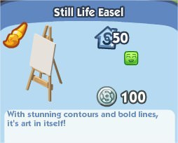The Sims Social, Still Life Easel