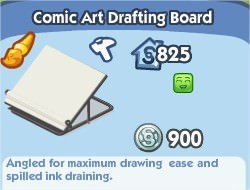 The Sims Social, Comic Art Dratting Board