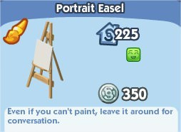 The Sims Social, Portait Easel
