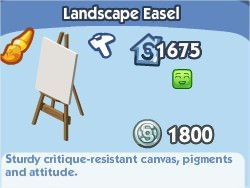The Sims Social, Landscape Easel