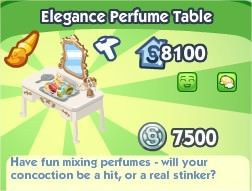 The Sims Social, Elegance Perfume Table