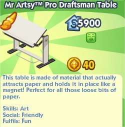 The Sims Social, Mr Artsy™ Pro Draftsman Table