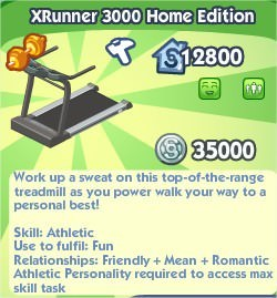 The Sims Social, Xrunner 3000 Home Edition
