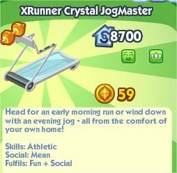 The Sims Social, XRunner Crystal JogMaster