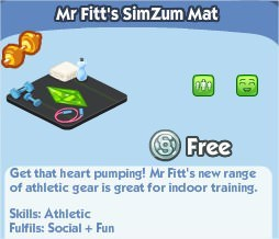 The Sims Social, Mr Fitt's SimZum Mat