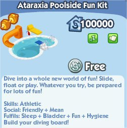 The Sims Social, Ataraxia Poolside Fun Kit