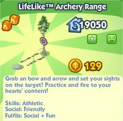 The Sims Social, LifeLike™ Archery Range