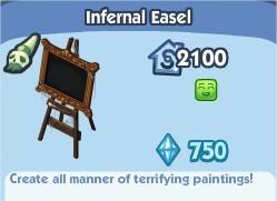 The Sims Social, Infernal Easel